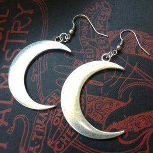 Image of Large Crescent Moon Earrings