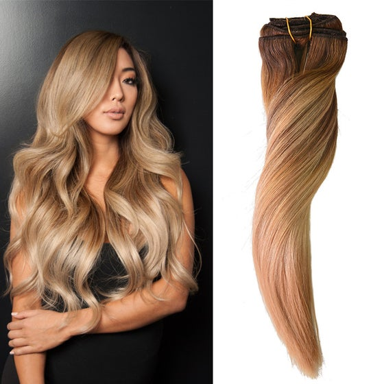 Medium brown 4 premium 100 remy hair extensions luxotic boutique image of ombre balayage 418 premium 100 remy hair extensions pmusecretfo Gallery
