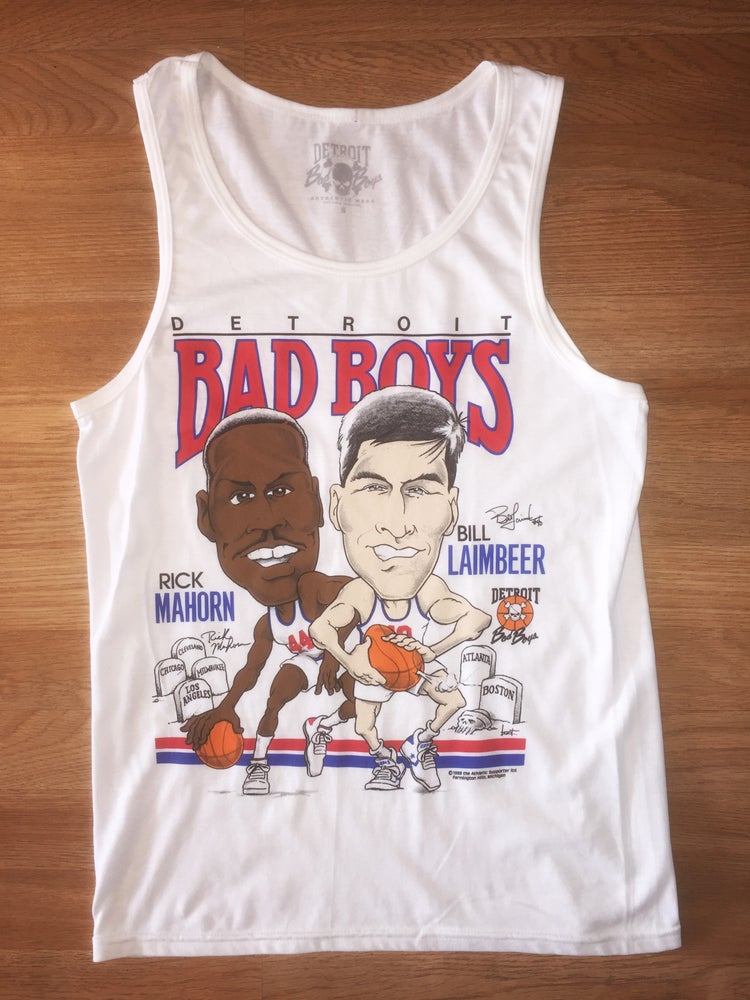 Image of Detroit Bad Boys Rick Mahorn & Bill Laimbeer Tank Top