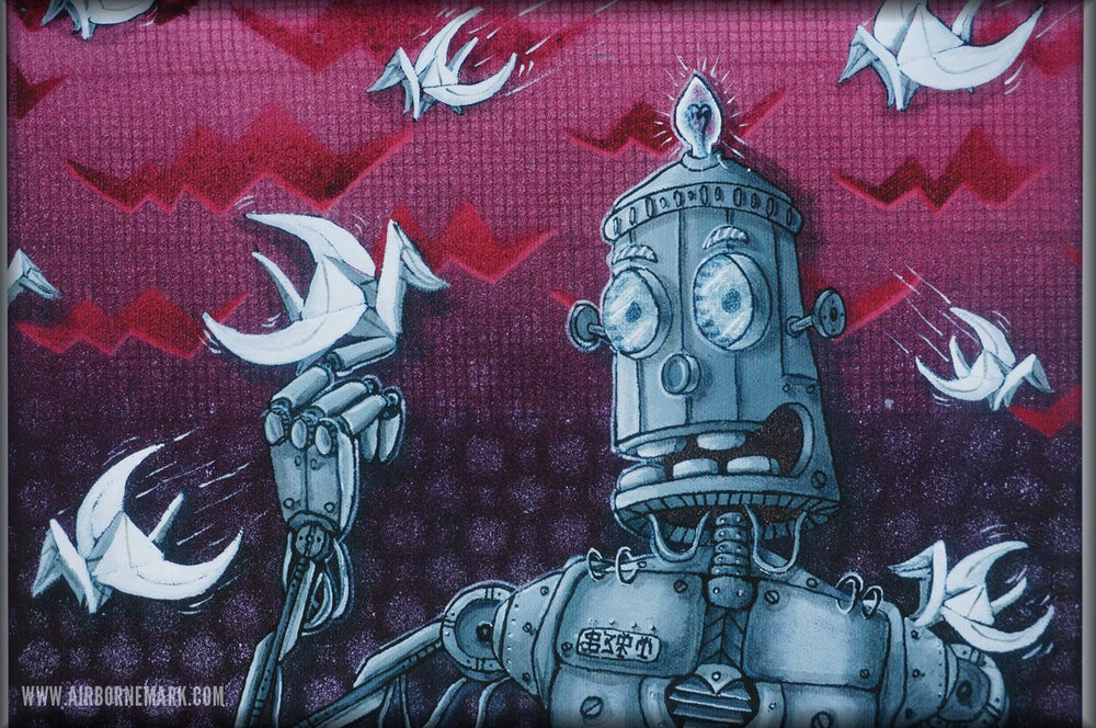 """Image of """"Be A Robot"""" A4 Glicee Print"""