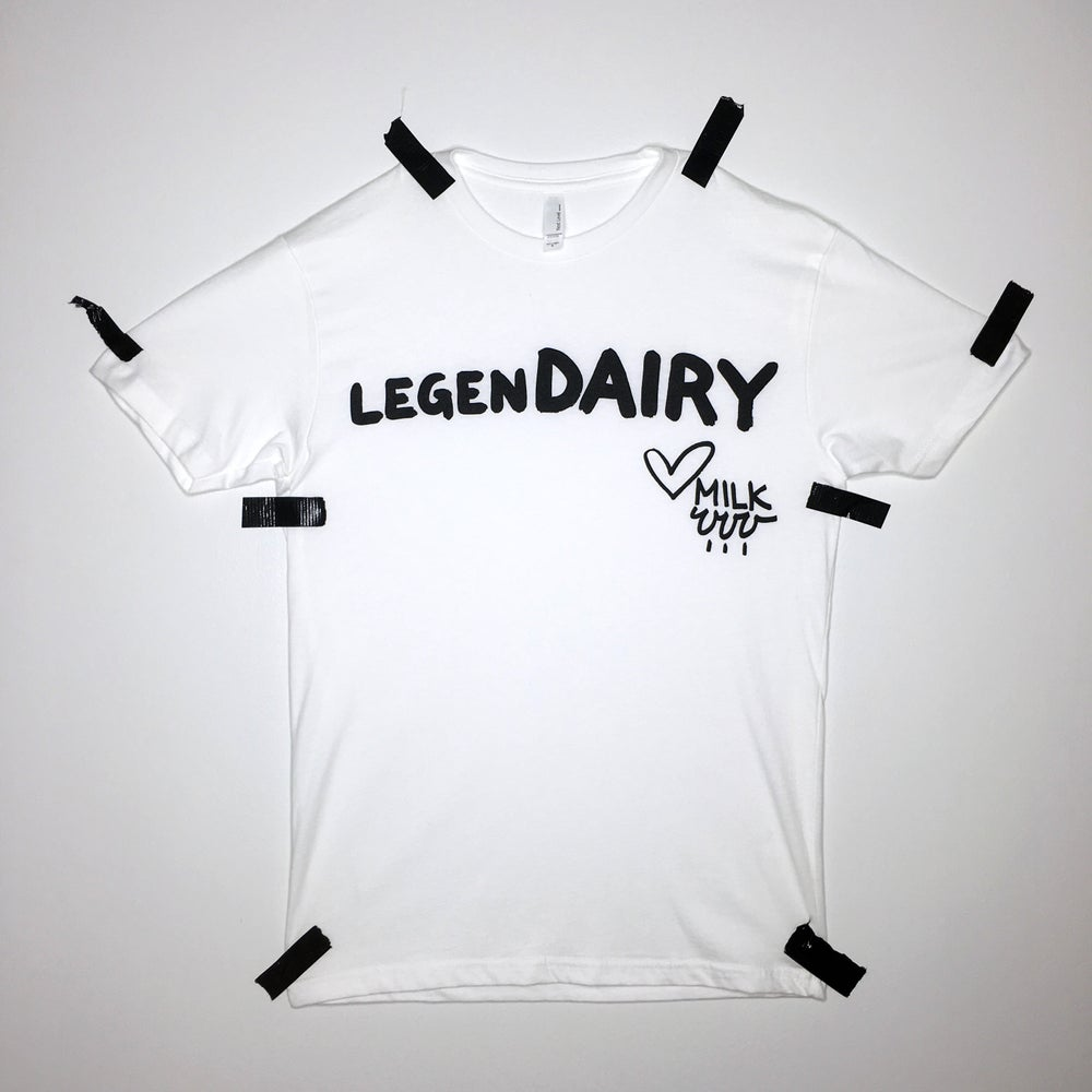 Image of legenDAIRY tee - white