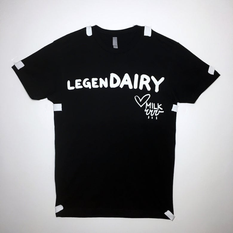 Image of legenDAIRY tee - black