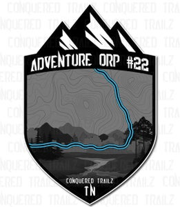 """Image of """"Adventure ORP #22"""" Trail Badge"""