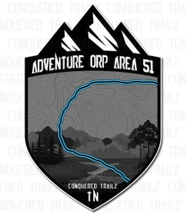 """Image of """"Adventure ORP - Area 51"""" Trail Badge"""