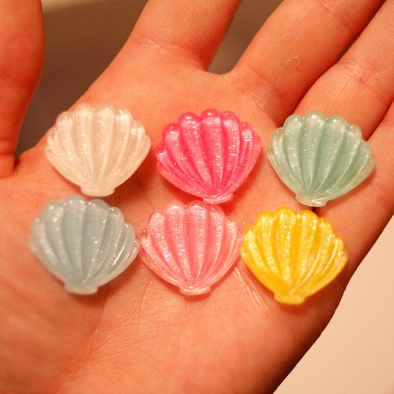 Image of Glittery Seashell Plugs (sizes 00g-3/4)