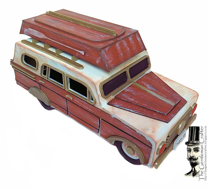 Image of The Woody Station Wagon Tutorial -Instant Download With .SVG Files