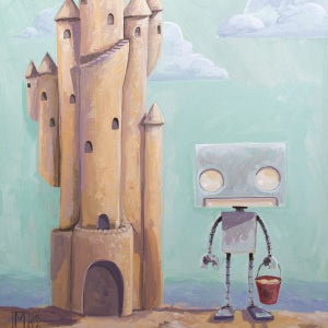 My Castle Print - Robot Art by Matt Q. Spangler