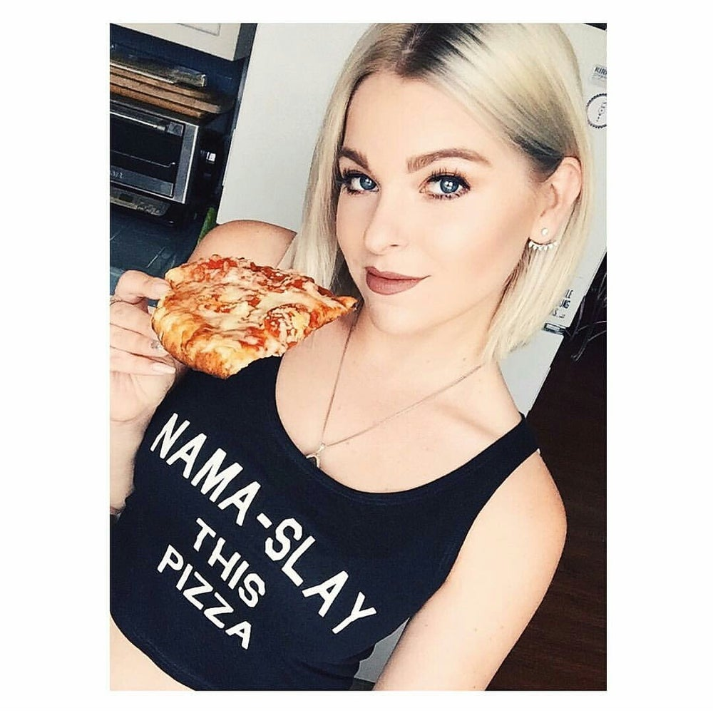 Image of NAMA-SLAY this Pizza Crop Tops
