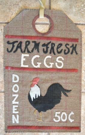Image of Farm Fresh Eggs- Vintage Tag Series