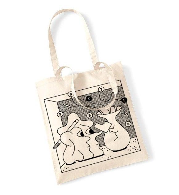 Image of Tote bag sérigraphié Antoine Eckart & Sottises