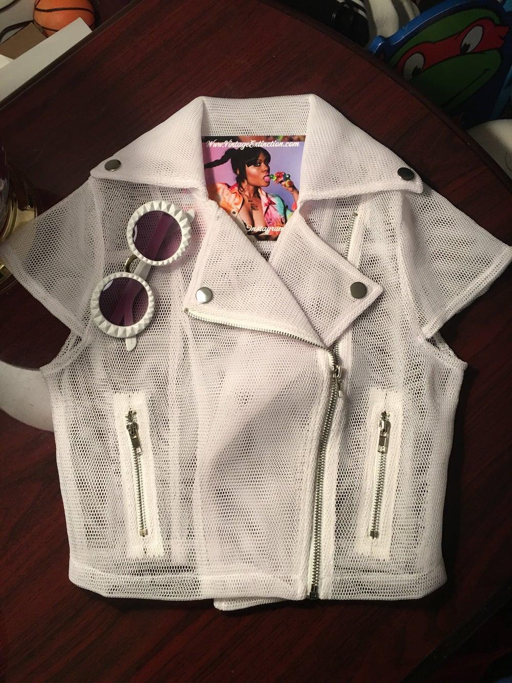 Image of New White Mesh Motorcycle Jacket