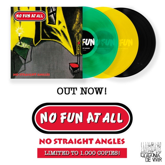 "Image of LADV69 - NO FUN AT ALL ""no straight angles"" LP REISSUE"