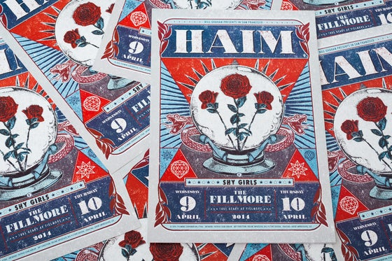 Image of Haim - Fillmore Poster