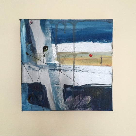 Image of SHELTER #6 - Acrylic on canvas with tape, 20 x 20cms