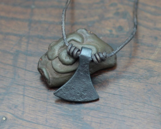 Image of Forged Iron Viking Axe Pendant