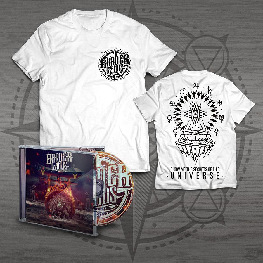 Image of BUNDLE #1 - WHITE UNIVERSE T-SHIRT + CD