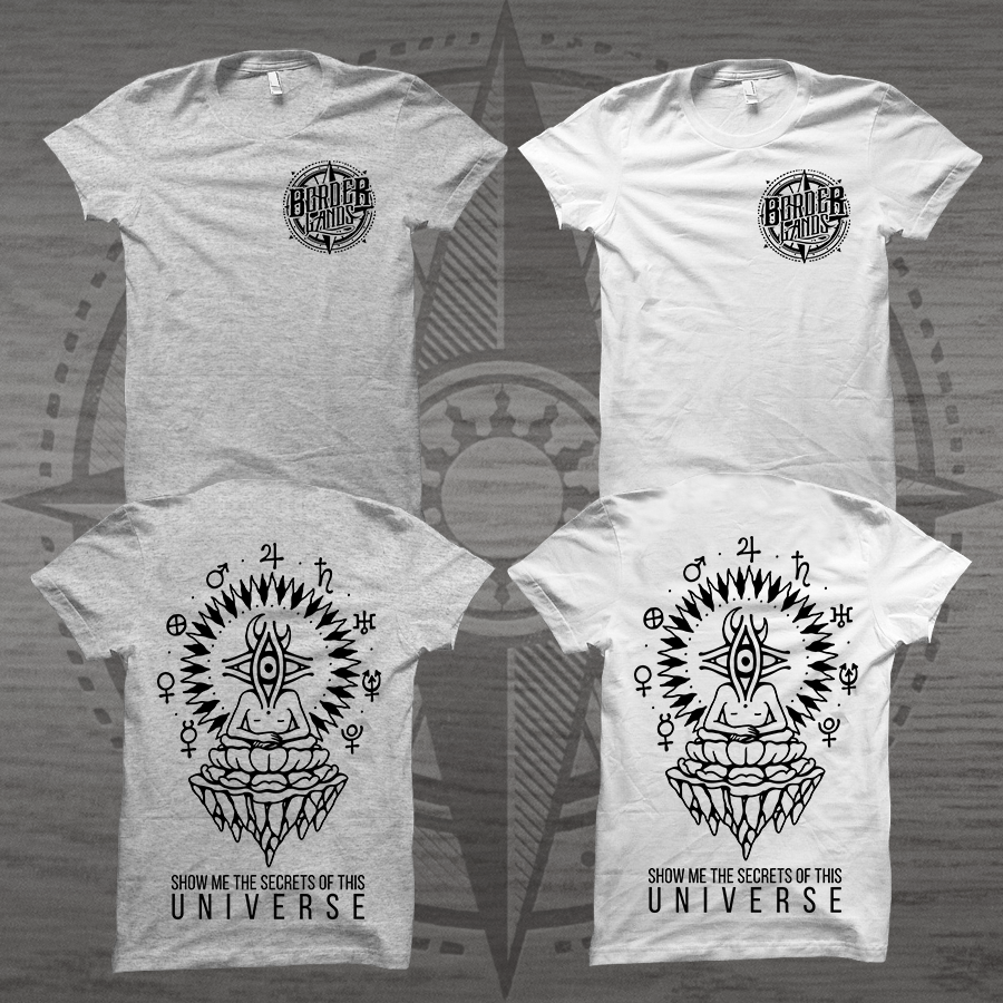 Image of T-SHIRT - UNIVERSE (WHITE AND GREY)