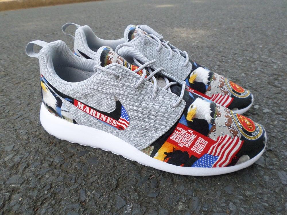 "Image of Custom Nike Roshe One ""Marines"""