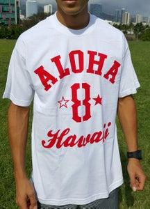 Image of Aloha 8 (white/red)
