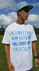 Image of Love Aloha (white/dusty blue)
