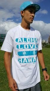 Image of Love Aloha (white/turquoise)