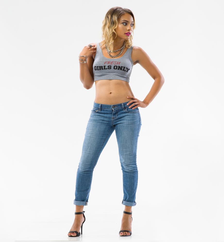 Image of Fresh Girls Crop Tank (Grey)