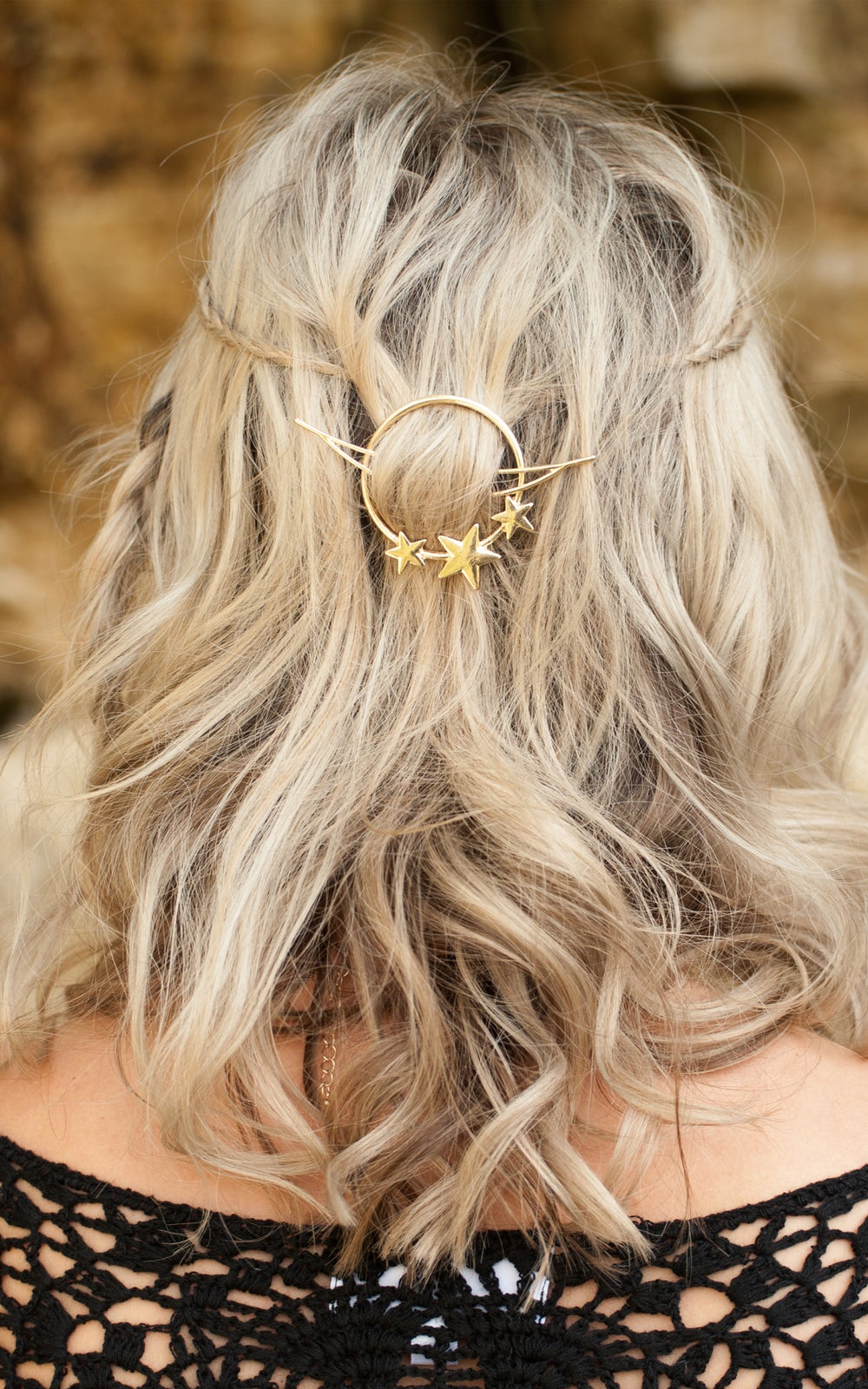 Image of Halo Hair Clip Gold or Silver