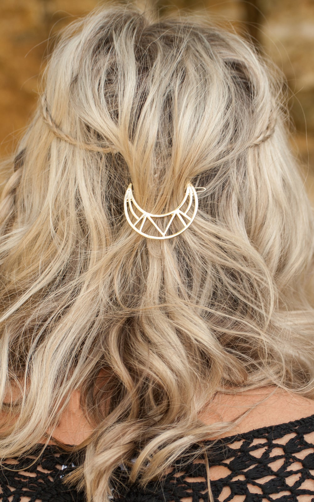 Image of Luna Crescent Moon Hair Clip