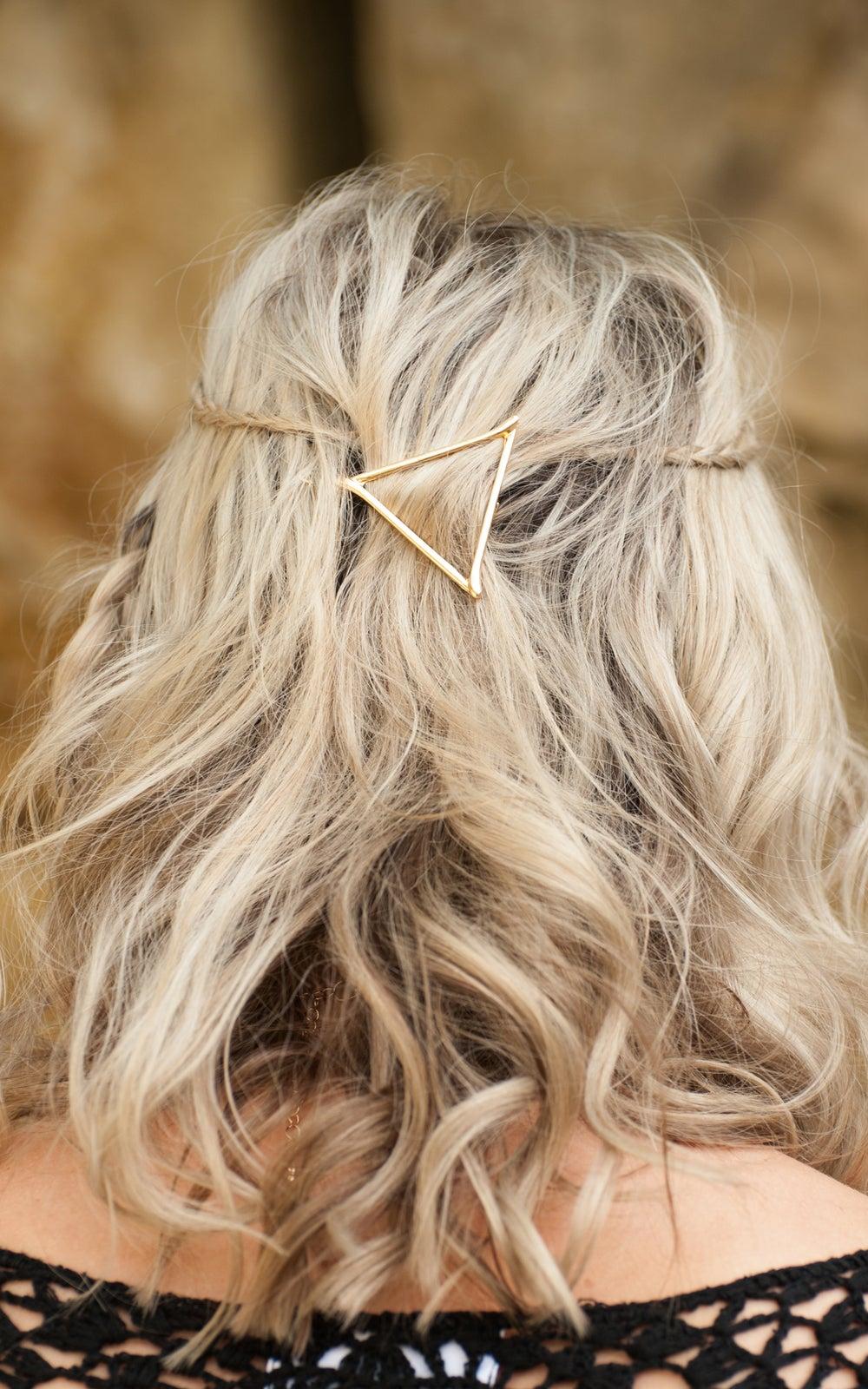 Image of Lyra Hair Clip Geo Cut Triangle
