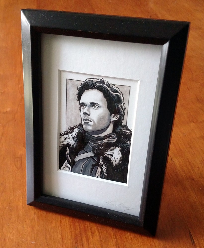 Image of Robb Stark Original Art Card (Framed)