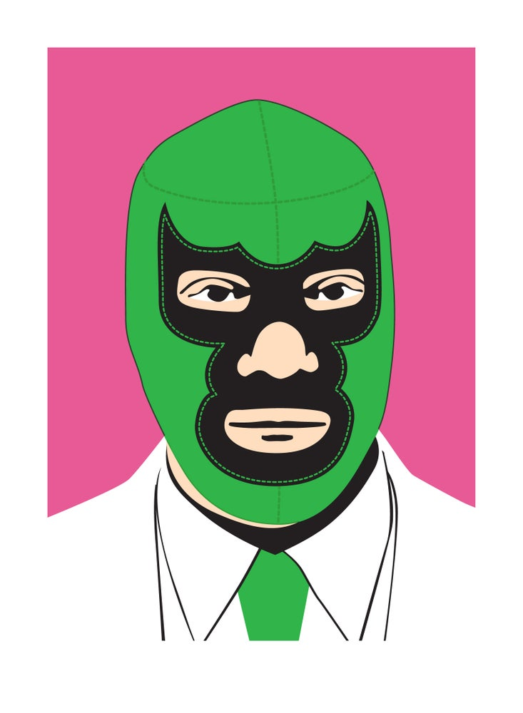 Image of Luchador (2009, Pink)
