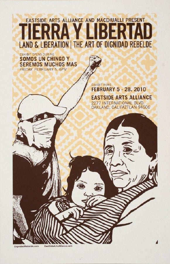 Image of Tierra y Libertad Exhibition Poster (2010)