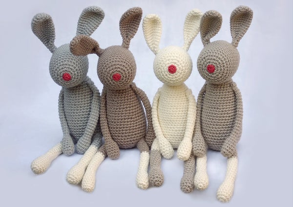 "Image of Softie ""Red-Nose-Bunny"" / Kuscheltier ""Stupshase"""