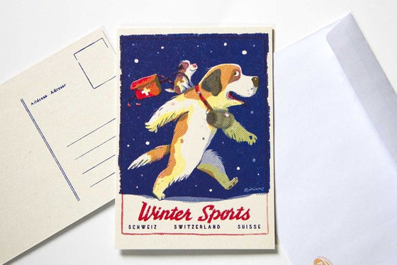 Image of Winter Sports Postcard