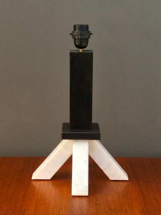 Image of Memphis-Style Marble Table Lamp