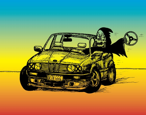 Image of Death Drives a Bimmer