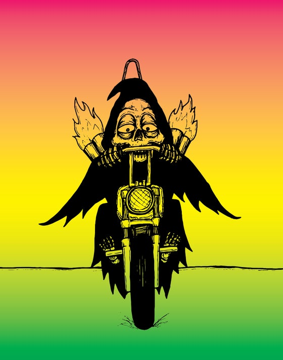 Image of Death Drives a Harley