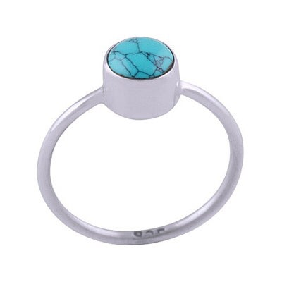 Image of Sterling Silver & Turquoise Lo Ring