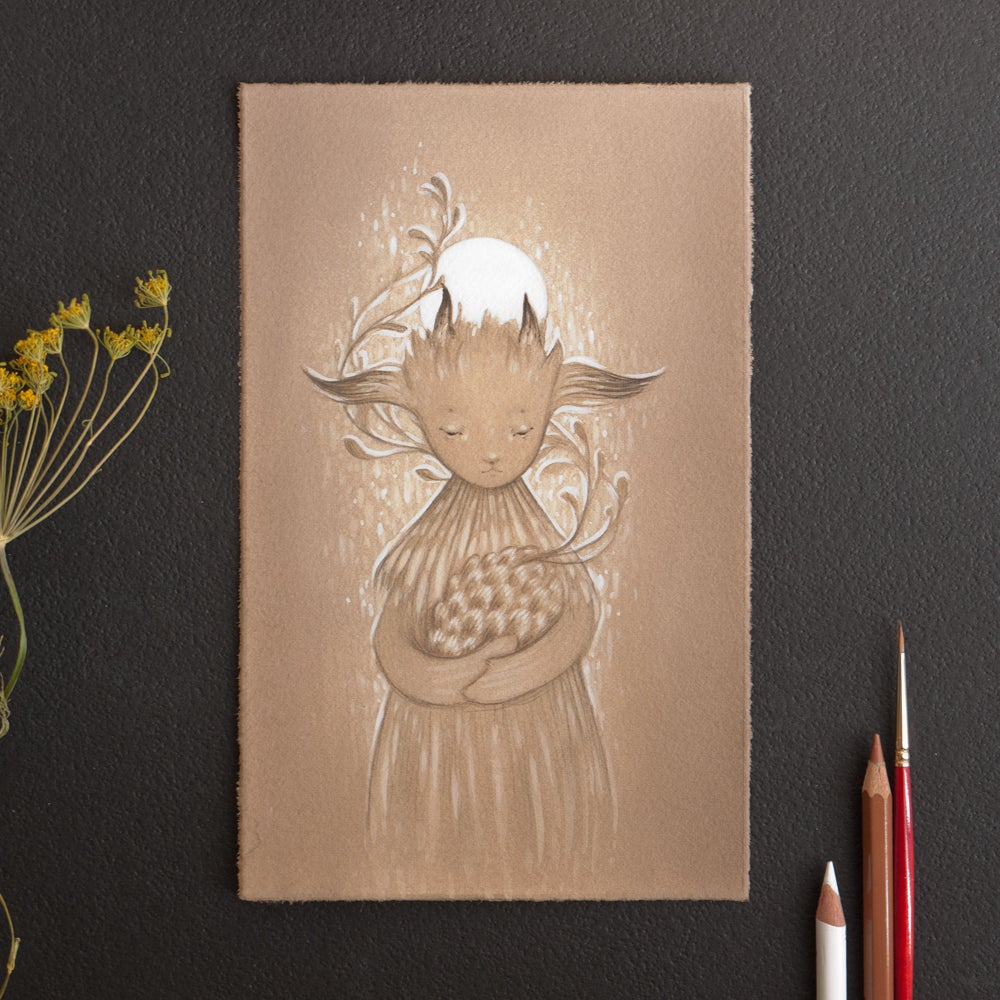 Image of moon fawn <br><h4>-study-</h4>