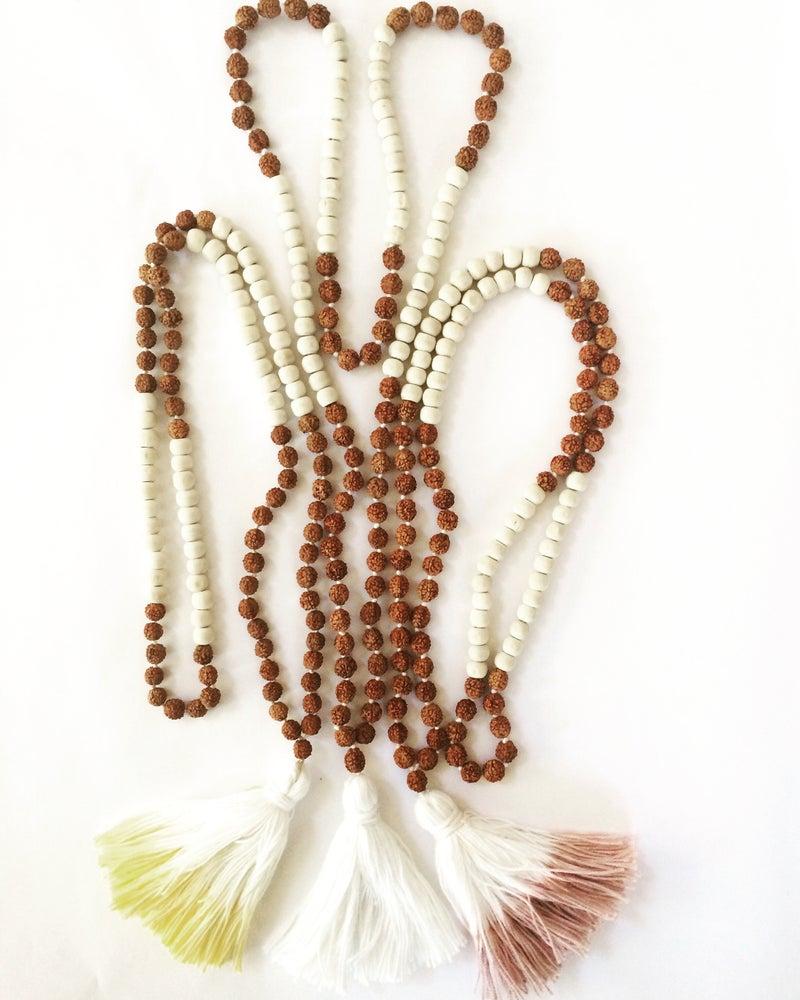 Image of Raw Wood and Rudraksha Seed