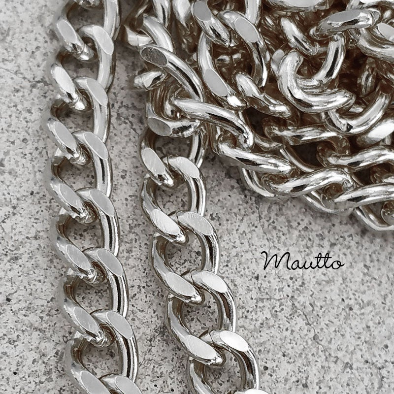 "Image of NICKEL Chain Purse Strap - Mini Classy Curb Diamond Cut Chain - 1/4"" Wide - Choose Length & Clasps"