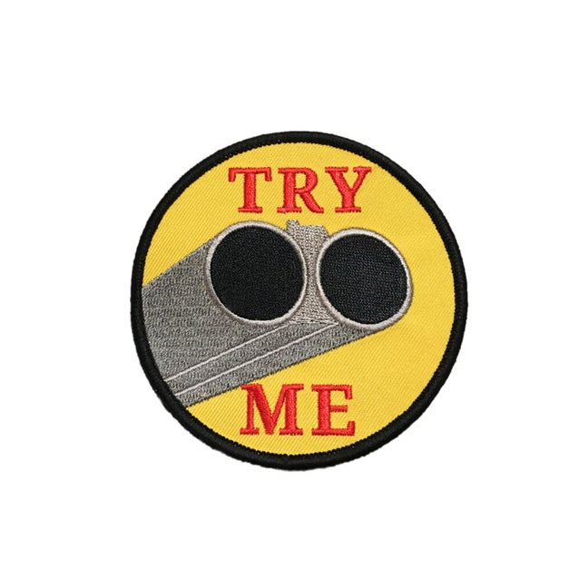 "Image of 'Try Me' 3.5"" patch"