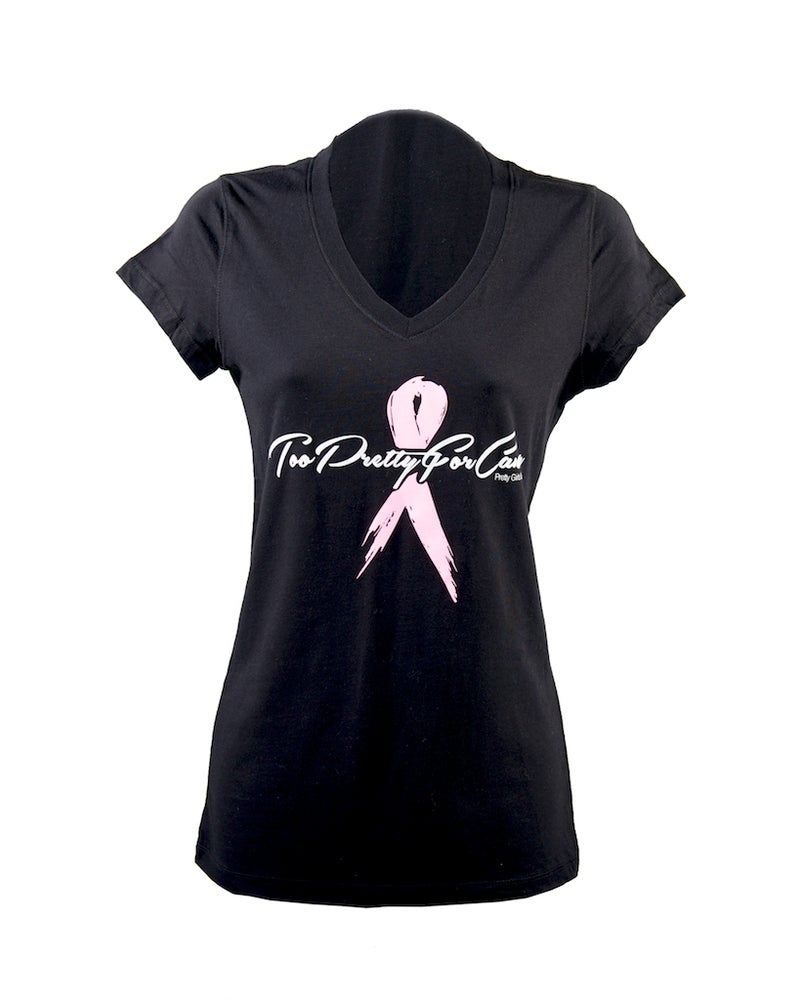Image of #TooPrettyForCancer  V-Neck