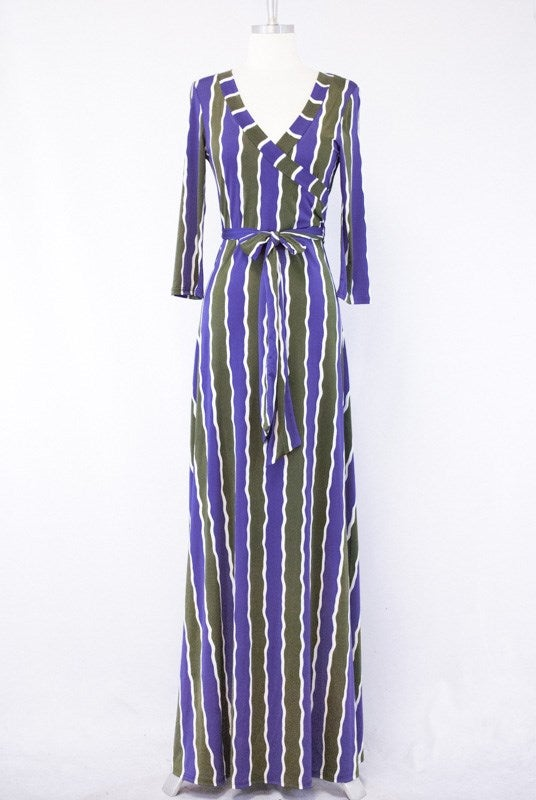 Image of FLAUNT YOUR STRIPES MAXI DRESS
