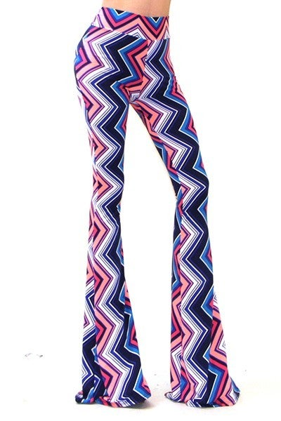 Image of HIGH WAIST PICASSO PALAZZO PANTS
