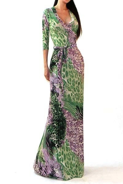 "Image of THE ""XAVIER"" MAXI WRAP DRESS"