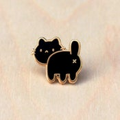 Image of Cat Butt Pin - Black