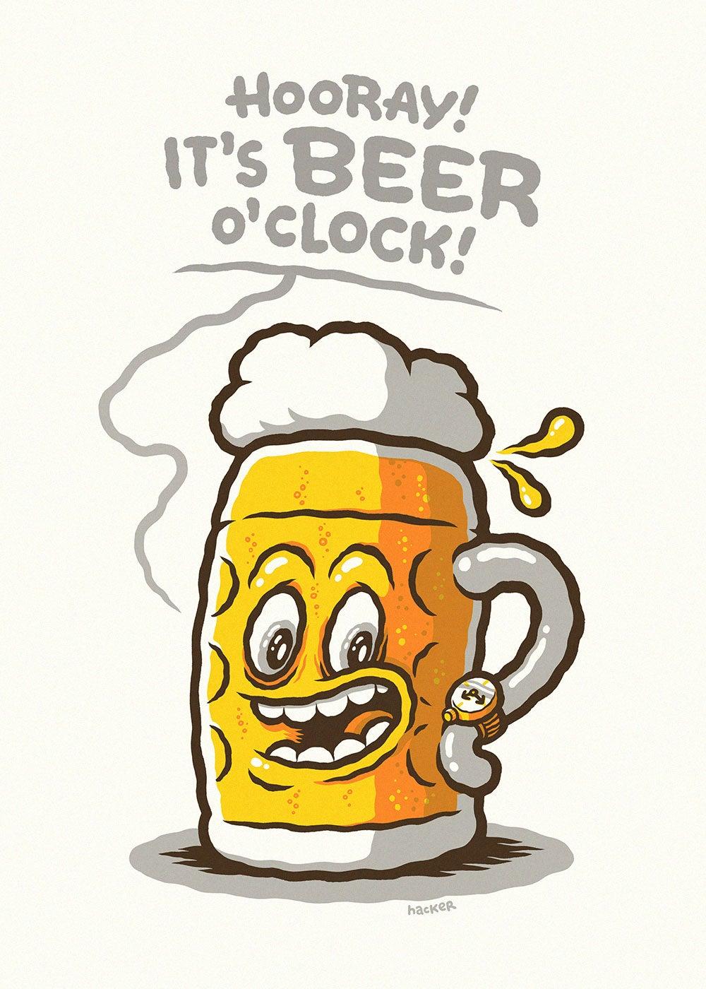 Michael Hacker Gig Posters Art Prints Amp Comics Hooray It S Beer O Clock