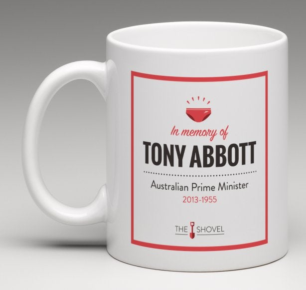 Image of Tony Abbott Memorial Coffee Mug 'Australian PM 2013- 1955'