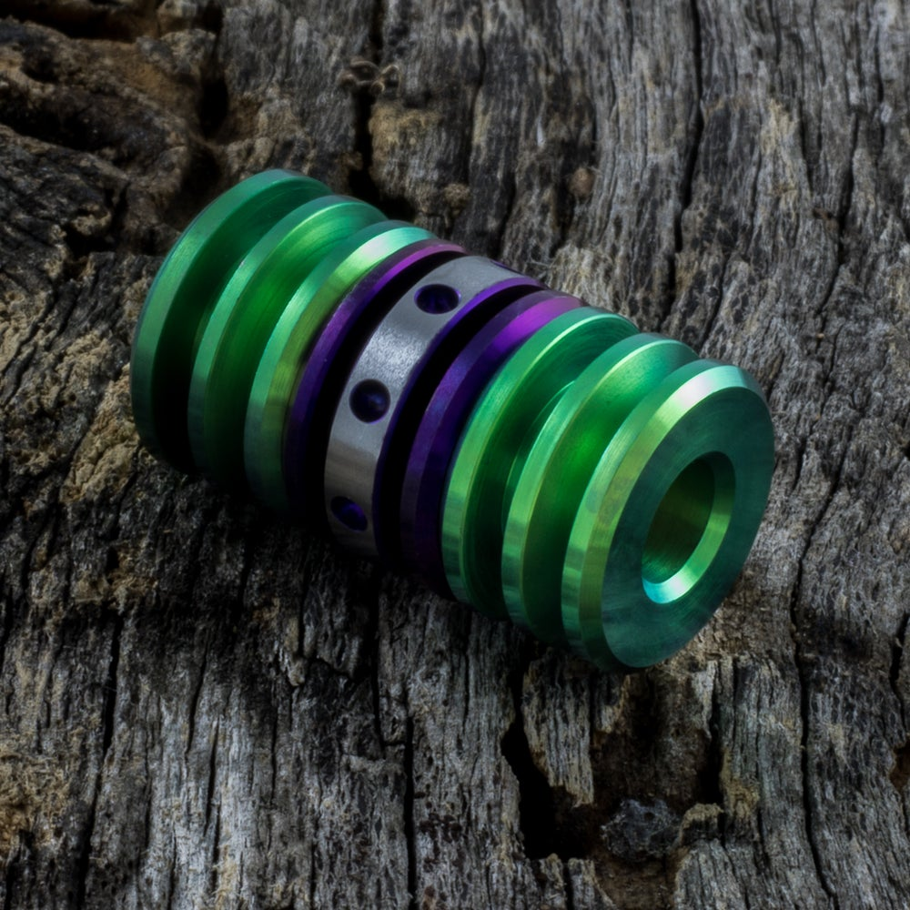Image of Deep Purple & Lime Green Triple Bead Set #2